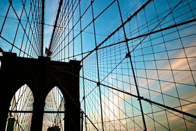 A View of the Brooklyn Bridge Through Cables by Kike Calvo