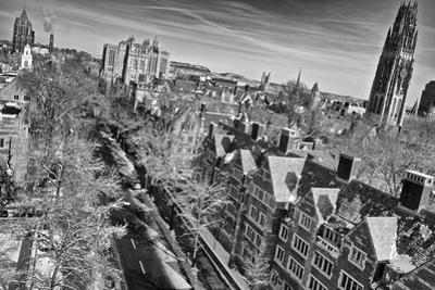 Aerial View of Yale University after a Winter Blizzard by Kike Calvo