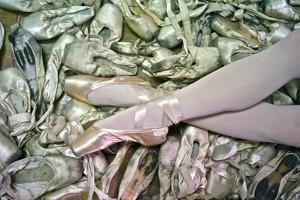 Ballerina Poses With All The Dancing Shoes She Used During Her Career by Kike Calvo