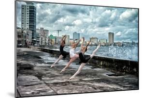 Ballerinas from the National Ballet of Cuba Dance on Havana's Malecon by Kike Calvo