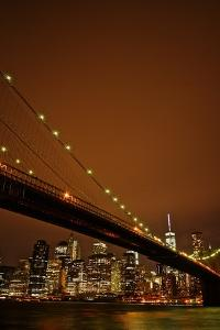 Brooklyn Bridge and Manhattan Skyline on the Background by Kike Calvo
