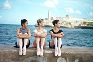 Classical Ballerinas from the Cuba National Ballet at the Malecon by Kike Calvo