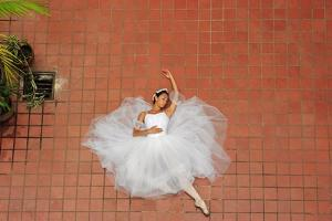 Dancer On The Floor Of The National Institute Of Culture (Inac) by Kike Calvo
