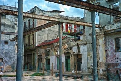 Deteriorated Buildings in Old Havana by Kike Calvo