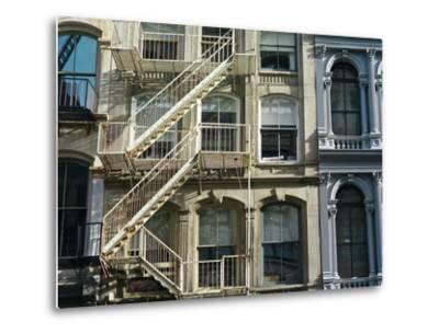 Fire Escapes on Buildings in Soho