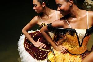 National Ballet Of Panama Ballerinas Posing At The Chagres River by Kike Calvo