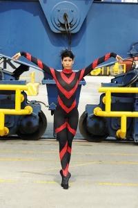 National Ballet Of Panama Dancer Poses In The Port Of Panama by Kike Calvo