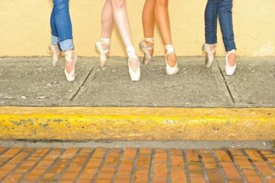 Professional Ballerinas Wearing Ballet Shoes with Jeans by Kike Calvo