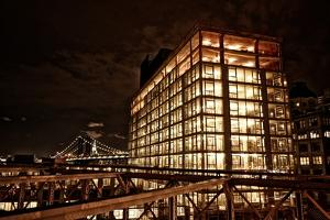 The Dumbo Neighborhood and the Manhattan Bridge Seen from the Brooklyn Bridge by Kike Calvo
