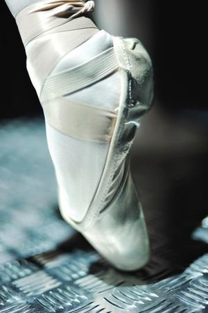 The Feet And Toe Shoes Of A Dancer From The National Ballet Of Panama by Kike Calvo