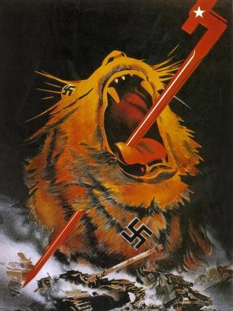 """Kill the Savage Beast!""1941--Giclee Print"
