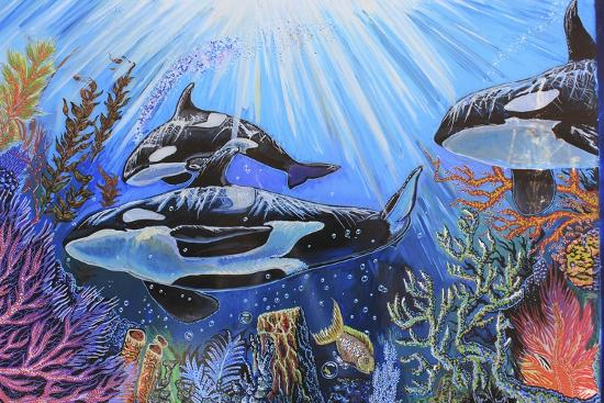 Killer Whales-Martin Nasim-Giclee Print