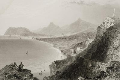 Killiney Bay, County Dublin, Ireland, from 'scenery and Antiquities of Ireland' by George Virtue,…-William Henry Bartlett-Giclee Print