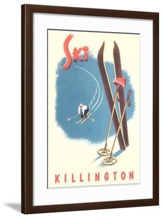 Killington Ski Poster--Framed Art Print