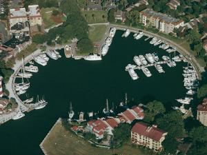 Aerial View of Hilton Head Harbour Town, South Carolina, USA by Kim Hart