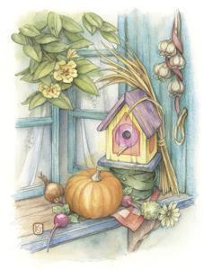 Harvest Birdhouse by Kim Jacobs