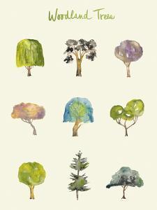 Woodland Trees by Kim Johnson