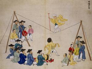 Acrobats on a Tightrope by Kim Junkeun