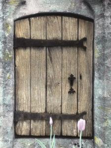 H.C. Cotswald Door and Tulips by Kim Koza