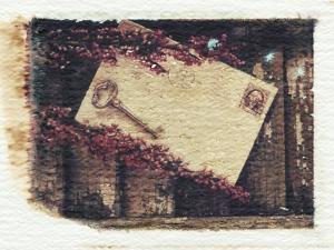 Key, Letter and Heather by Kim Koza