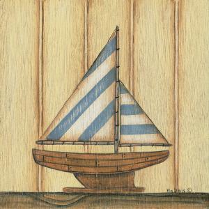 Blue Stripe Sailboat by Kim Lewis