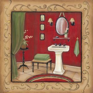Red Bathroom Sink by Kim Lewis