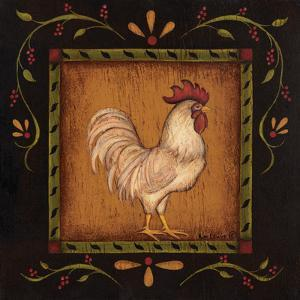 Square Rooster Right by Kim Lewis