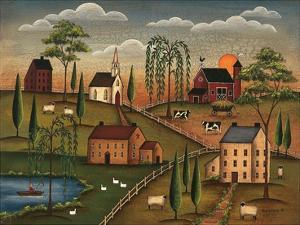 Village Day by Kim Lewis