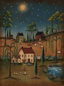 Village Full Moon by Kim Lewis