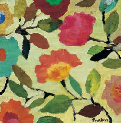 Floral Tile IV by Kim Parker