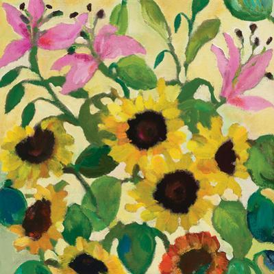 Sunflowers and Pink Lilies by Kim Parker