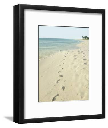 Footprints in Sand at Grace Bay Beach, Providenciales, Turks and Caicos Islands, West Indies
