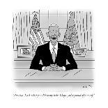 "Retirement Training Program'-""Very good, Larry!  Just one more step and yo?"" - New Yorker Cartoon-Kim Warp-Premium Giclee Print"