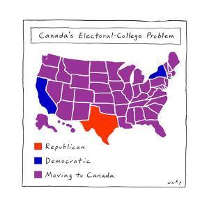 Canada's Electoral College problem - Cartoon by Kim Warp