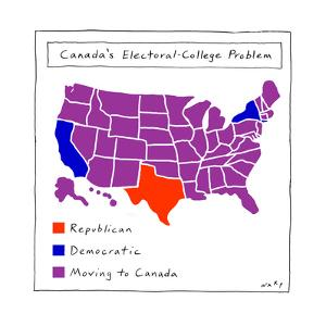 Canada's Electoral College problem - Cartoon by Kim Warp