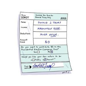 Donald J. Trump Tax Return - Cartoon by Kim Warp