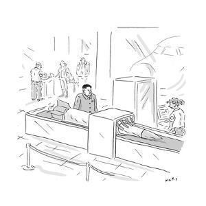 Kim Jong Un Missile in Airport Security - Cartoon by Kim Warp