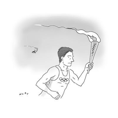 Mosquito Olympic Torch Carrier - Cartoon