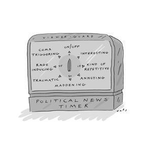 Political News Timer - Cartoon by Kim Warp