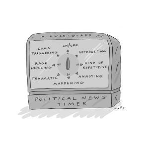 Political News Timer - Cartoon by Kim Warp