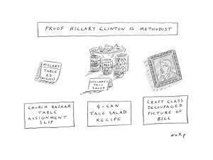 Proof Hillary Clinton is a Methodist - Cartoon by Kim Warp