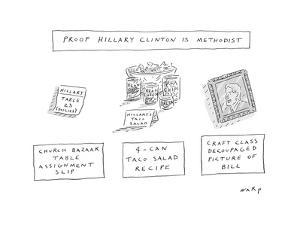 Proof Hillary Clinton is a Methodist - Cartoon by Kim Warp