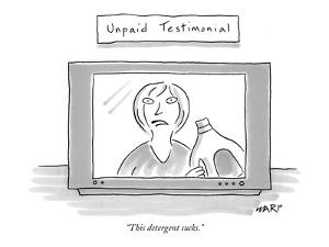 """""""This detergent sucks."""" - New Yorker Cartoon by Kim Warp"""