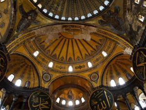 Interior of the Church of the Divine Wisdom at Aya Sofya by Kimberley Coole