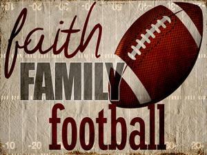 Faith Family Football by Kimberly Allen