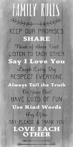 Family Rules v5 by Kimberly Allen