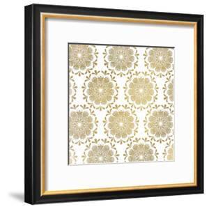 Mandala Pattern in Gold by Kimberly Allen
