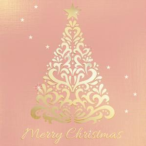 Merry Christmas Ornate Tree by Kimberly Allen