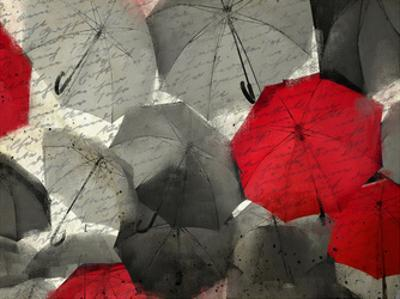 Red Umbrella by Kimberly Allen