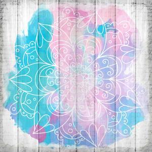Watercolor Mandala 3 by Kimberly Allen